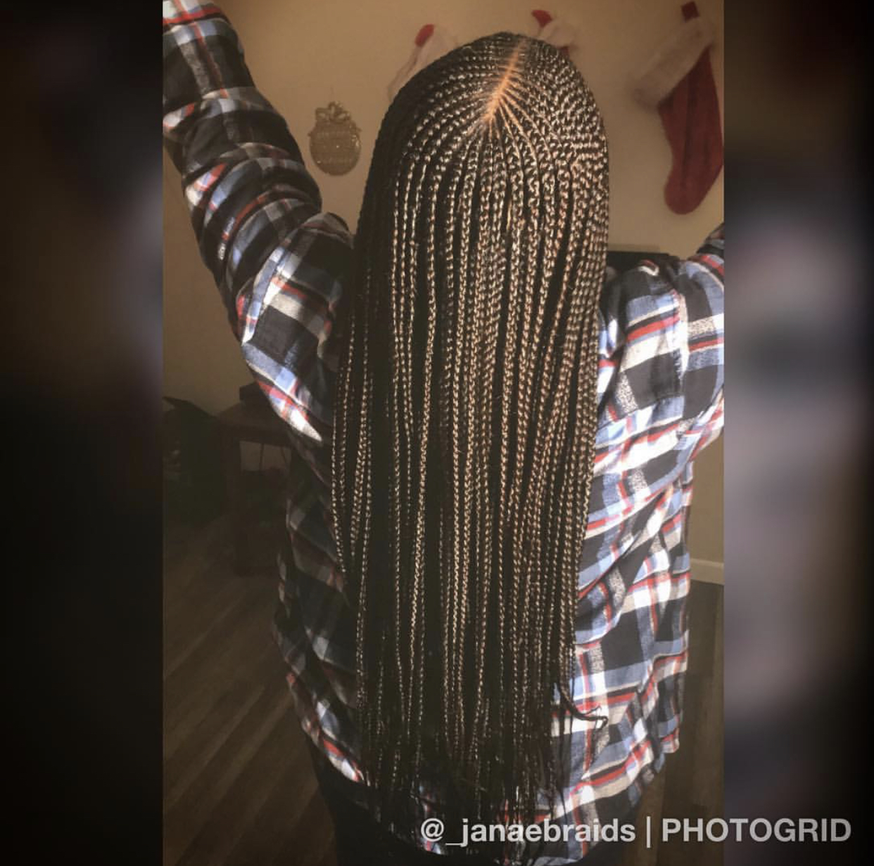 Tribal Braids 3 Layers Middle Part