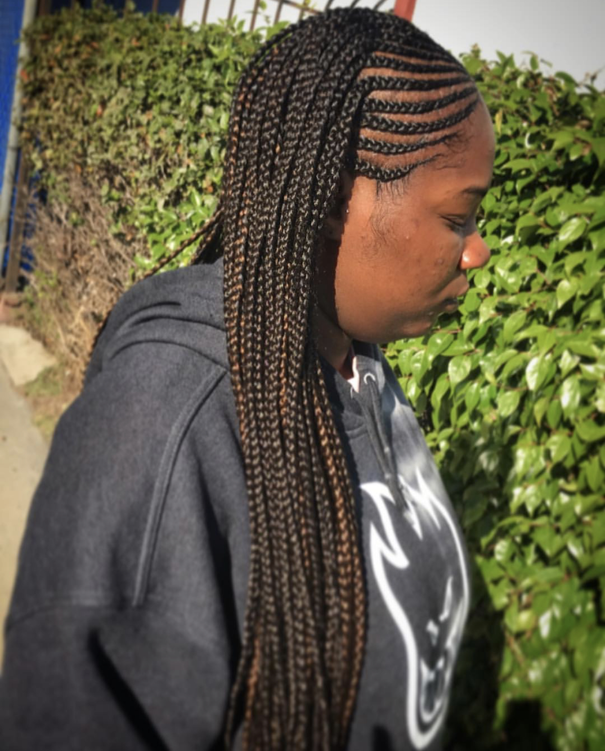 Small Half and Half- Feedin/BoxBraids